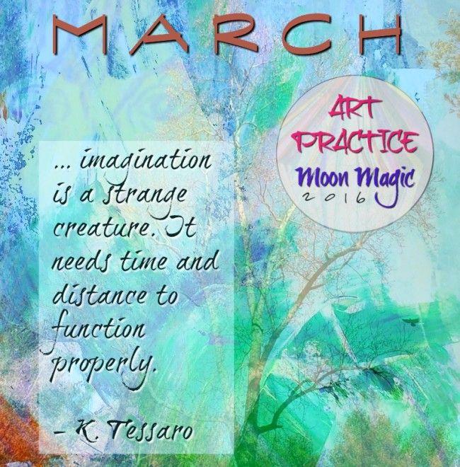 Art Practice, Moon Magic March Theme (New Moon Invitation) Mixed