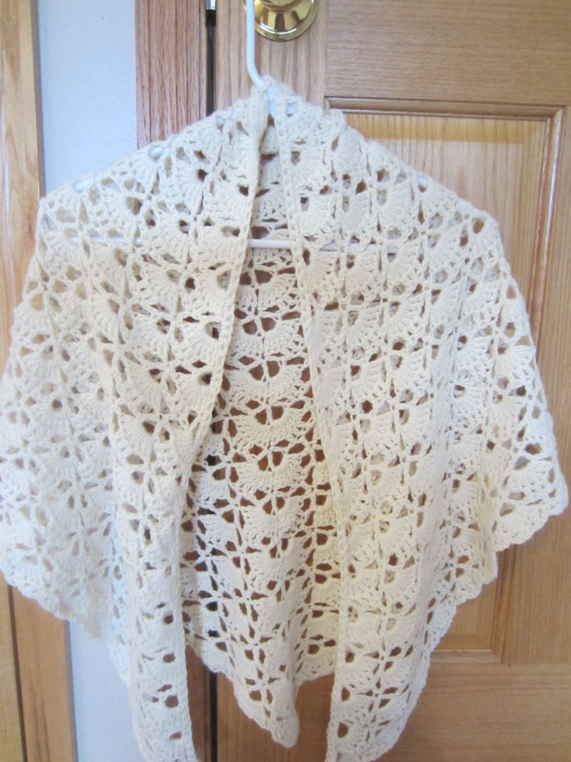 Beautiful White Triangle Shawl  With Touch Of Sparkle  Delicate Elegant  Lace Summer  Wrap Capalet  Stole by MonkeyCatBoutique on Etsy https://www.etsy.com/listing/187982546/beautiful-white-triangle-shawl-with