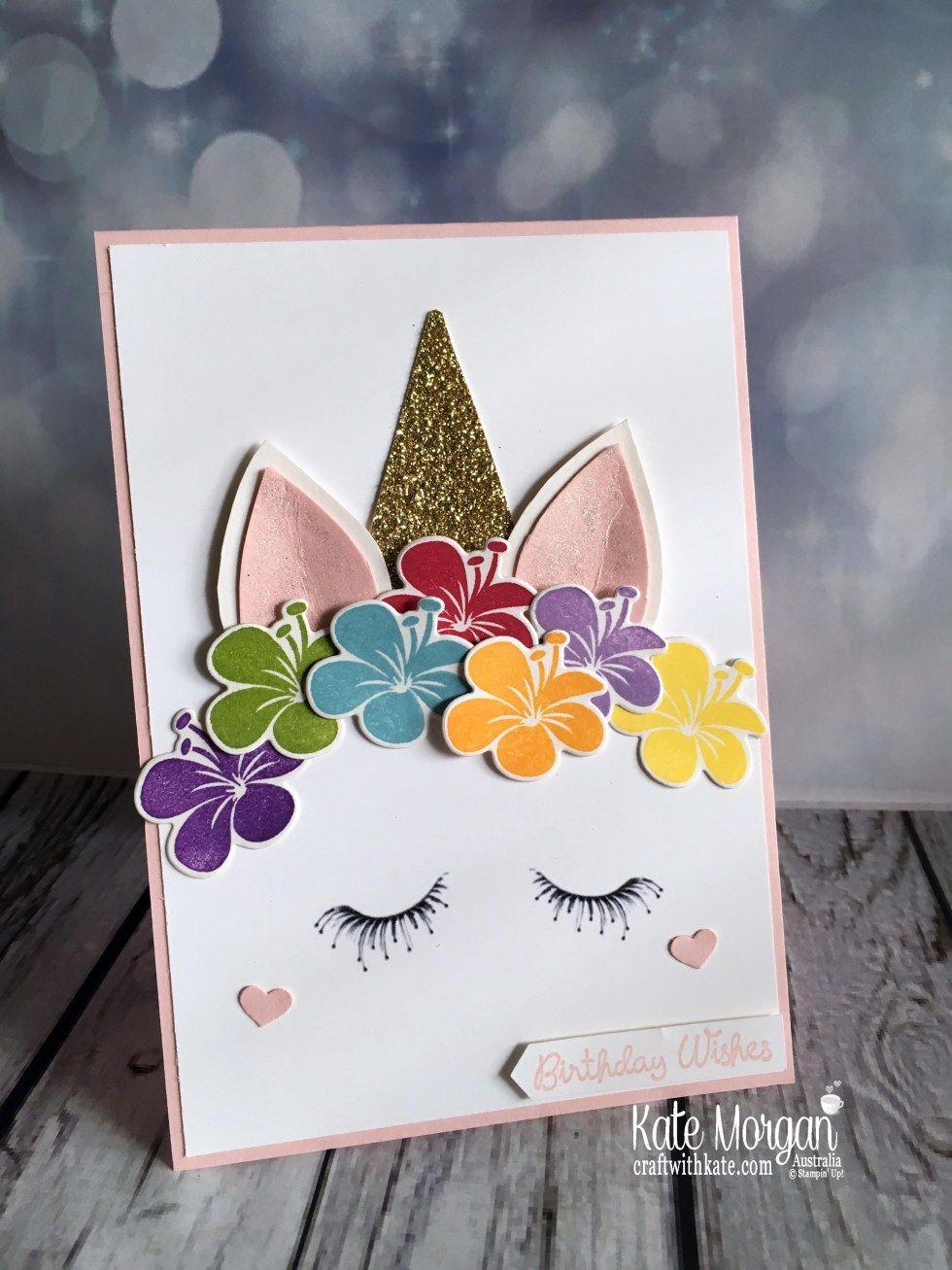 Unicorns For A Special Birthday Girl Unicorn Birthday Cards Handmade Birthday Cards Unicorn Card