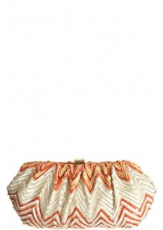 Mandarin Beaded Clutch  Perfect colors and bag for a summer evening bag