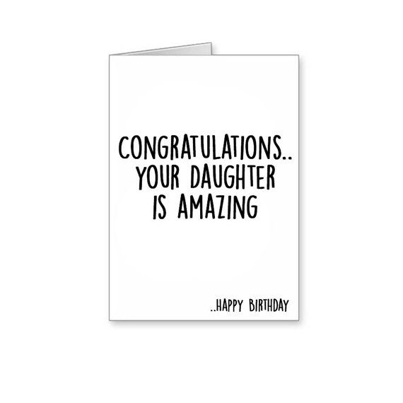Congratulations Your Son Is Amazingfunny Cardsfunny Mum Dad Cardsdad Birthdaymum Birthdayfunny Birthdayson Cardsdaughter