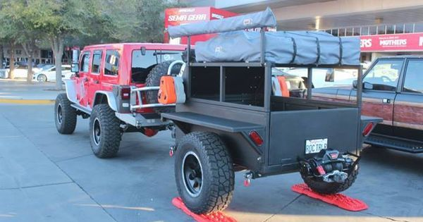 Jeep Auto Super Photo Overland Trailer Kayak Trailer Jeep Camping