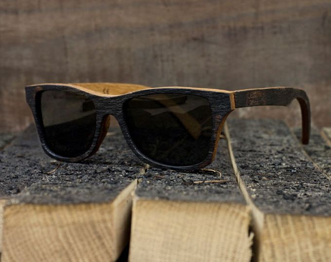 1f4688f2e9 Bushmills Whiskey Barrel Wooden Sunglasses.