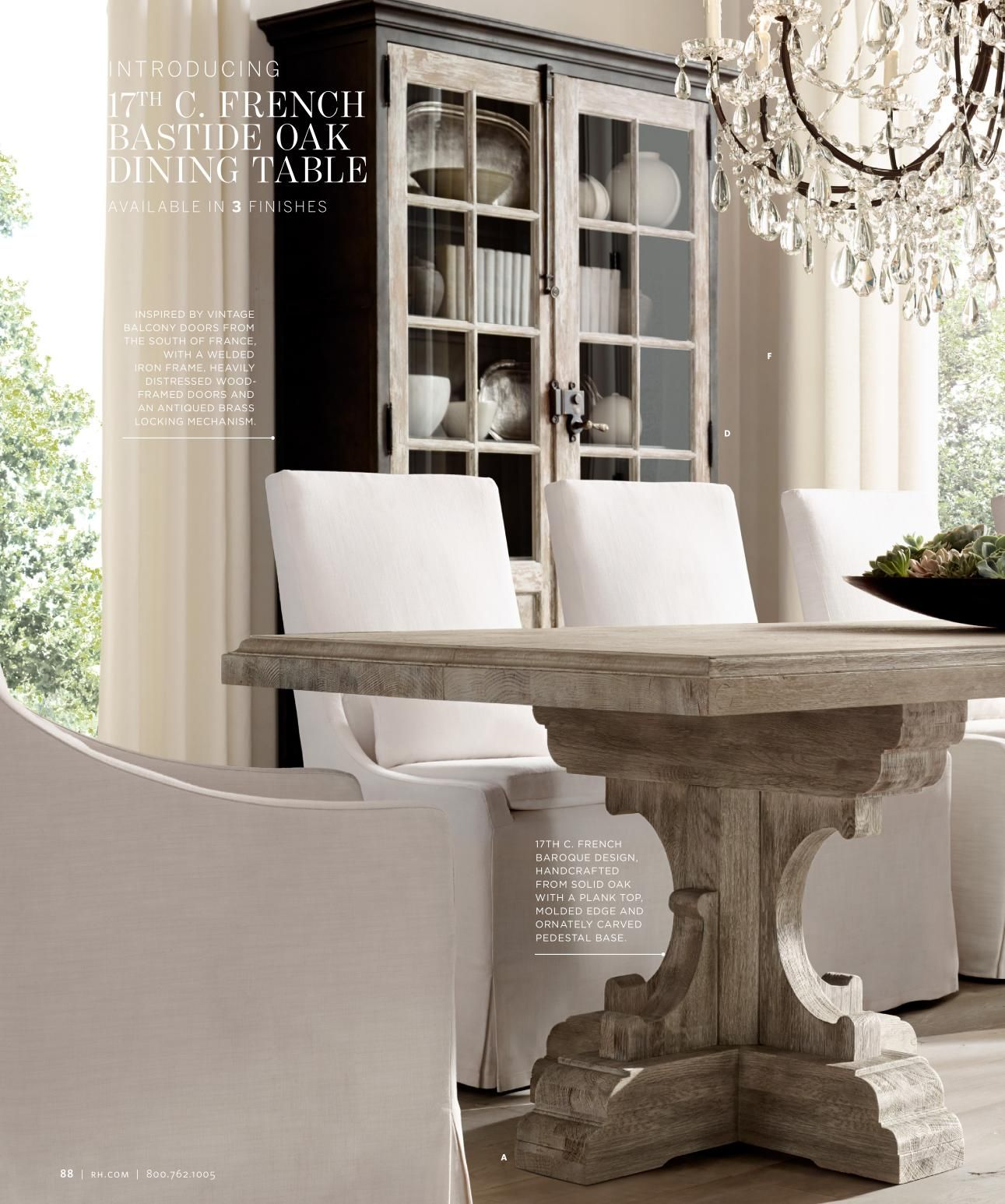 Rh source books i like the base of this table diy home for Restoration hardware dining room ideas