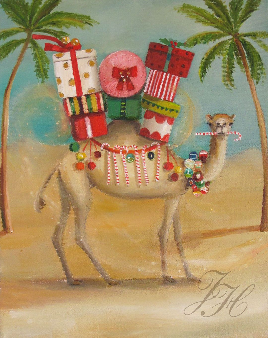 The Christmas Camel Preferred A More Temperate Climate By Janet Hill, 11.22.16