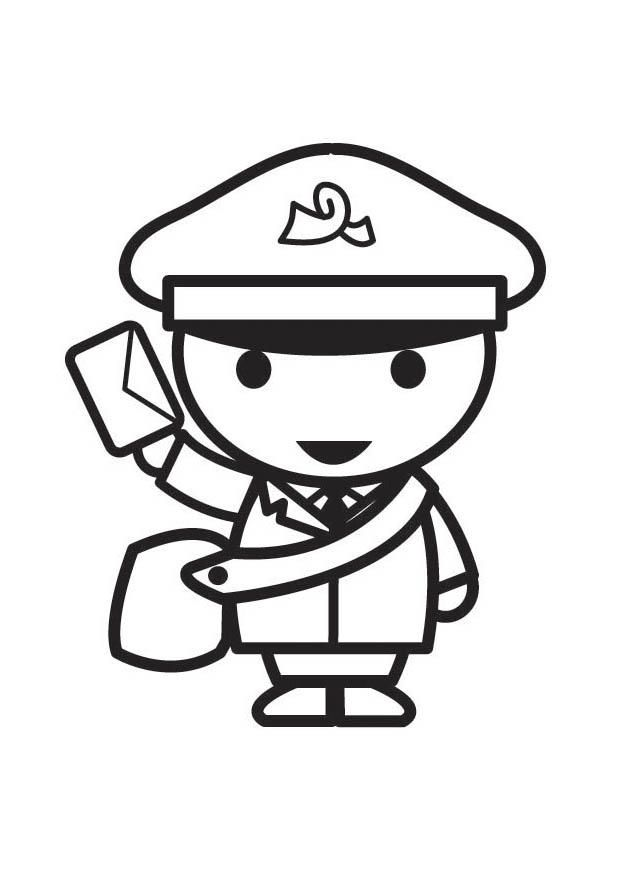 mailman coloring page Google Search Coloring pages