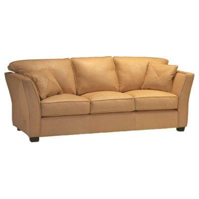 Omnia Furniture Manhattan Leather Sofa & Reviews Wayfair
