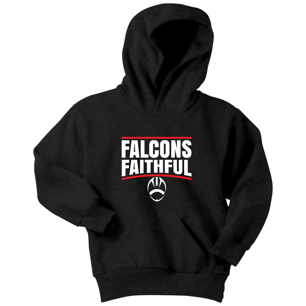Falcons Faithful Youth Hoodie Atlanta Falcons Fans Falcons Atlanta Falcons Gear