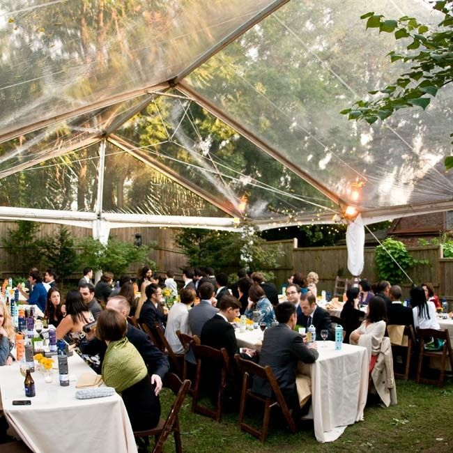 Tented Backyard Wedding Reception In Pa