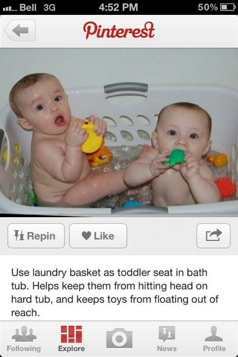 Laundry Basket For Baby Bath Seat This Is One Of The Best Ideas I Ve Ever Seen The Baby Has Something To Lean Toddler Bath Smart Baby Products Baby Bath Tub