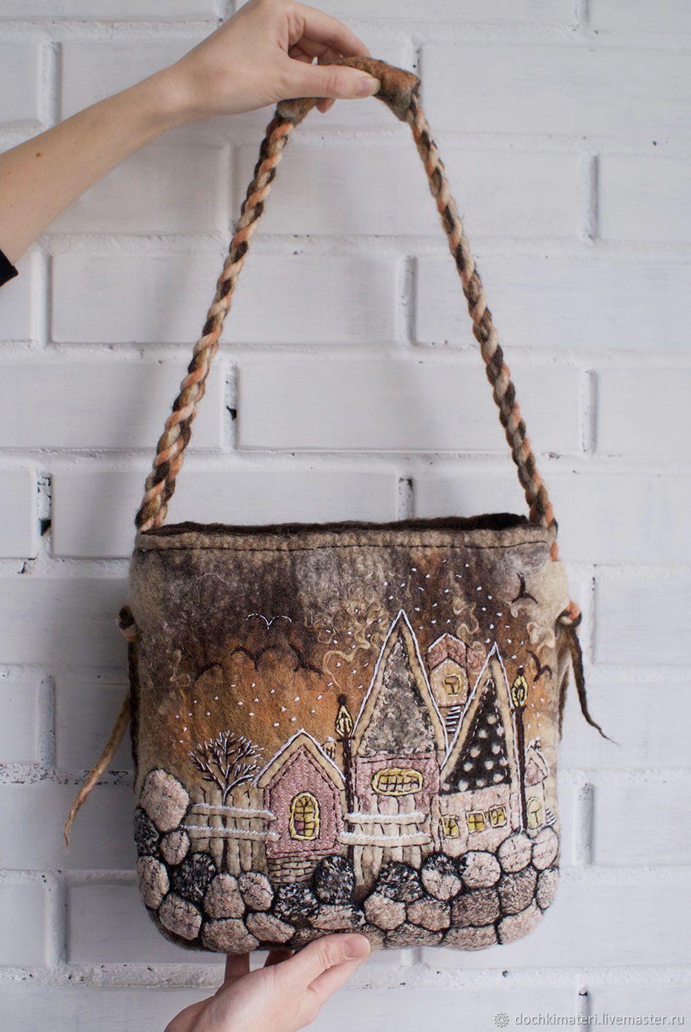 20fbba4c9b85 Женские сумки ручной работы. Ярмарка Мастеров - ручная работа. Купить  Валяная сумка