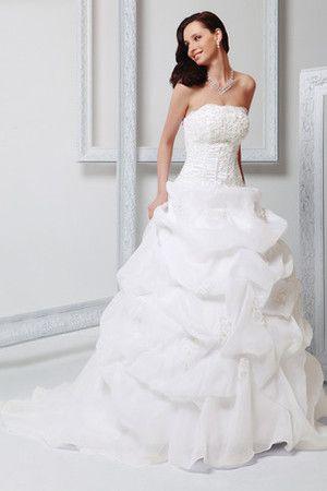 Vestiti Da Sposa Pomposi.Abito Da Sposa Senza Spalline Con Applique Principessa Multi