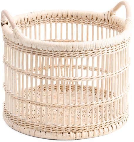 Small Boho Rattan Storage Basket Storage Baskets Small Boho Shoe Basket