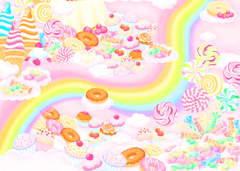 Pastel candy wallpaper. Pastel Play Pretties