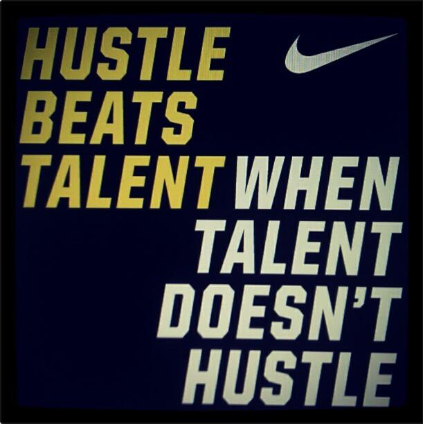 Hustle Beats Talent Entrepreneurship Football Mom Pinterest