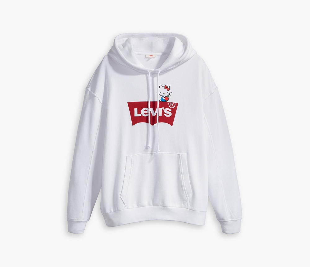 Levi S X Hello Kitty Semi Basic Hoodie White Sanrio Sweatshirts Sweatshirts Hoodie Hoodies [ 861 x 1000 Pixel ]