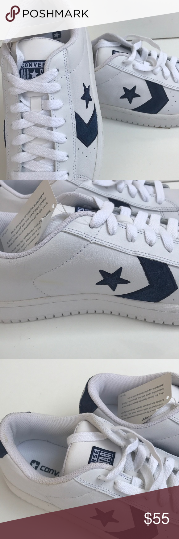 6b11e8e5f1767a Converse Unisex Ev Pro Ox White Navy Sz 11.5 New! Great condition. See  images for small nicks. Womens size 11.5   Men s size 10 Converse Shoes  Athletic ...
