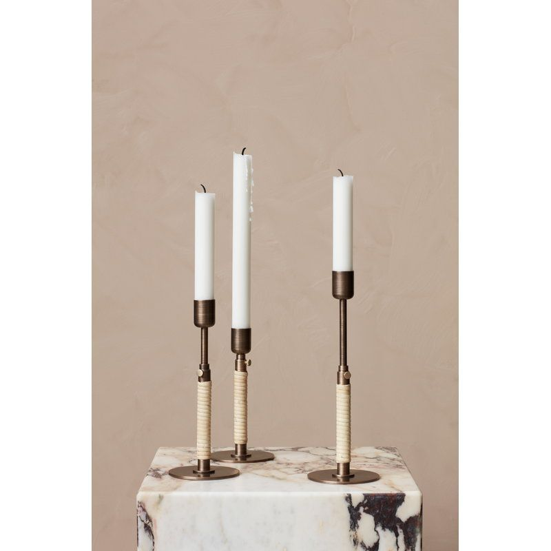 Menu Duca Candle Holder Bronzed Brass Candle Holders Candle Decor Candle Sizes
