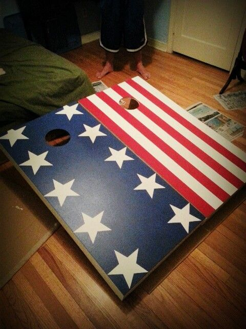 American Flag Cornhole Boards Just In Time For The 4th Of