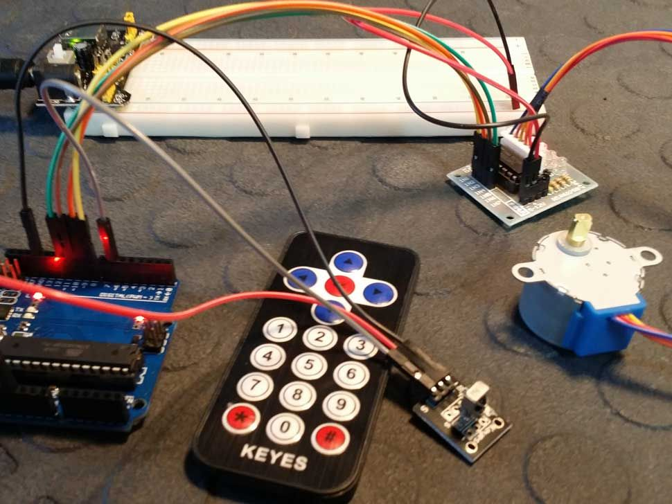 Control A Stepper Motor With An Ir Remote Control Tutorial With