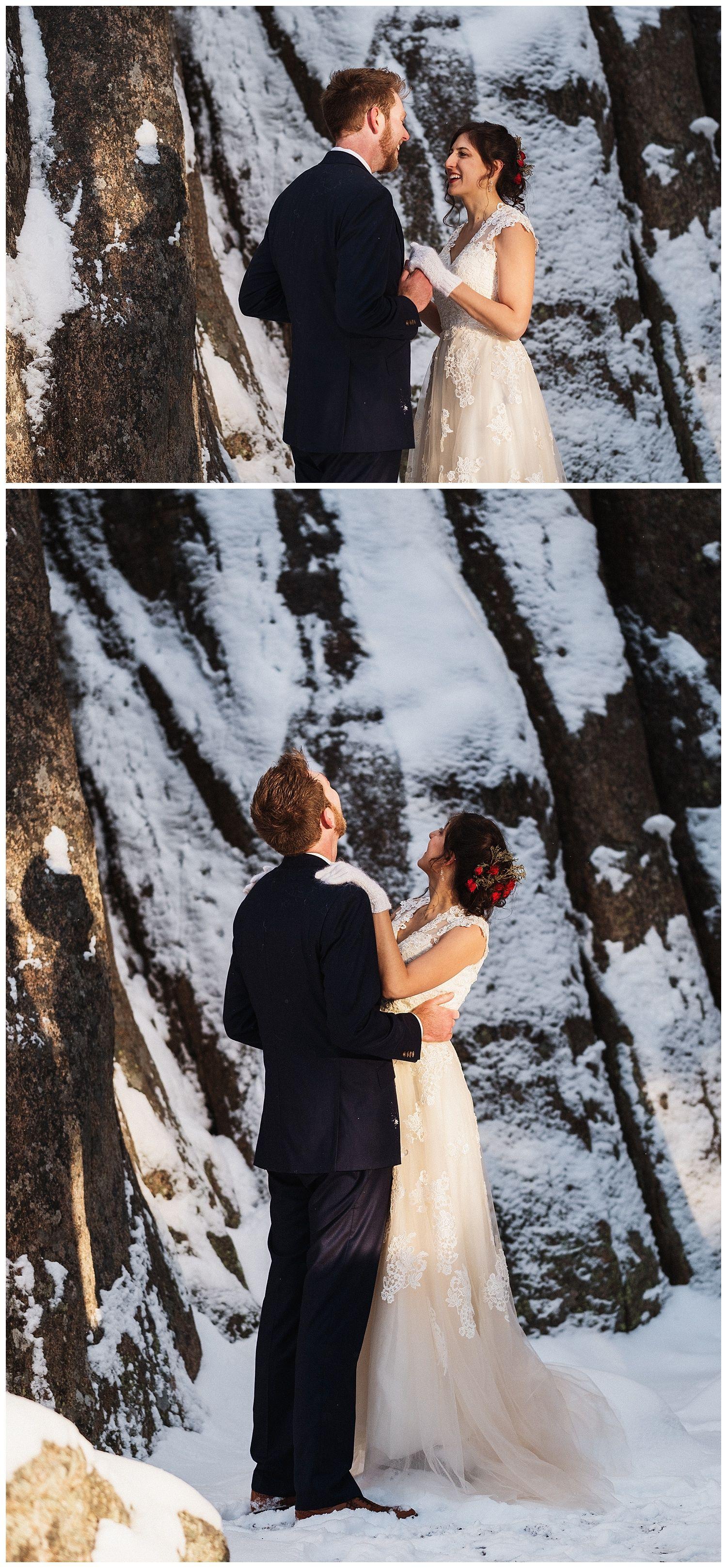 Intimate Winter Wedding Estes Park Wedding Photographer
