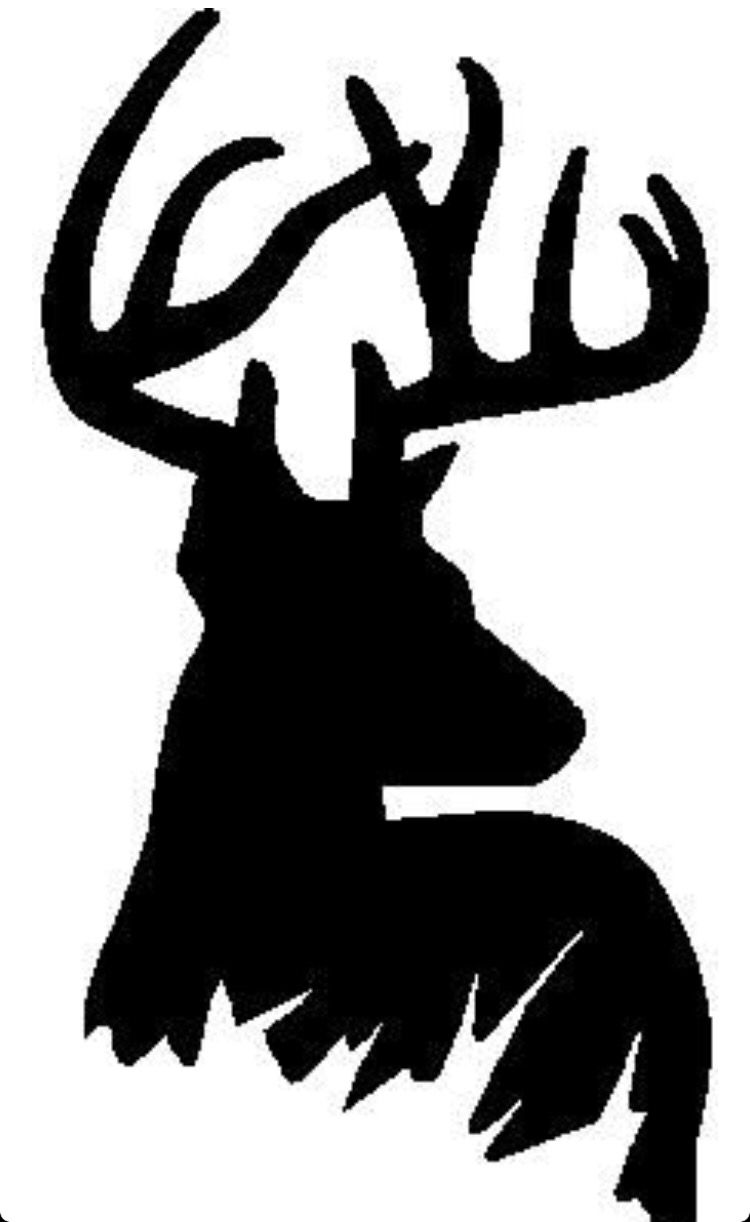 Amazing image with deer stencil printable