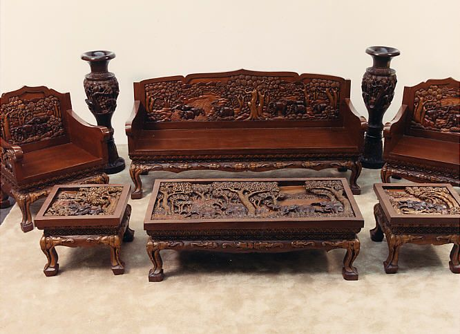 Bon Hand Carved Vietnamese Furniture   Living Room Set