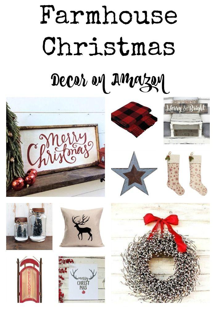 Farmhouse Christmas Decor on Amazon   ☆ Hometalk: DIY Christmas ...