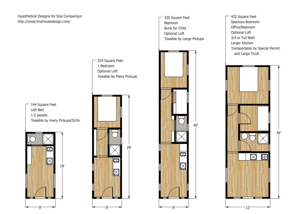 tiny house on trailer floor plans comparison with another design and ...