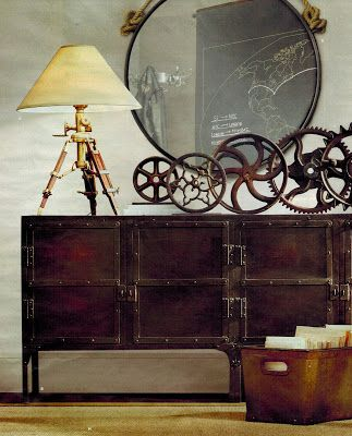 Adopt the unconventional steampunk decor in your home for Diy steampunk home decor