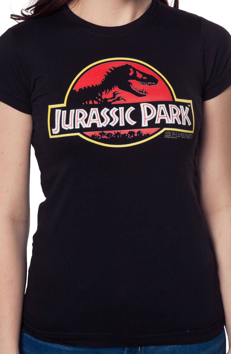 f7c7a01ca Ladies Jurassic Park Logo Shirt: Jurassic Park Juniors T-shirt | New ...