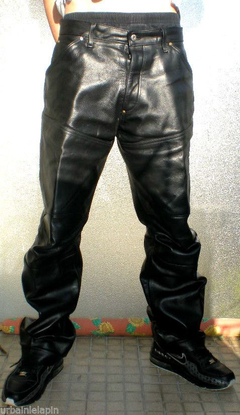 jean G STAR SHORTCUT ELWOOD en cuir W31 leder hose jeans