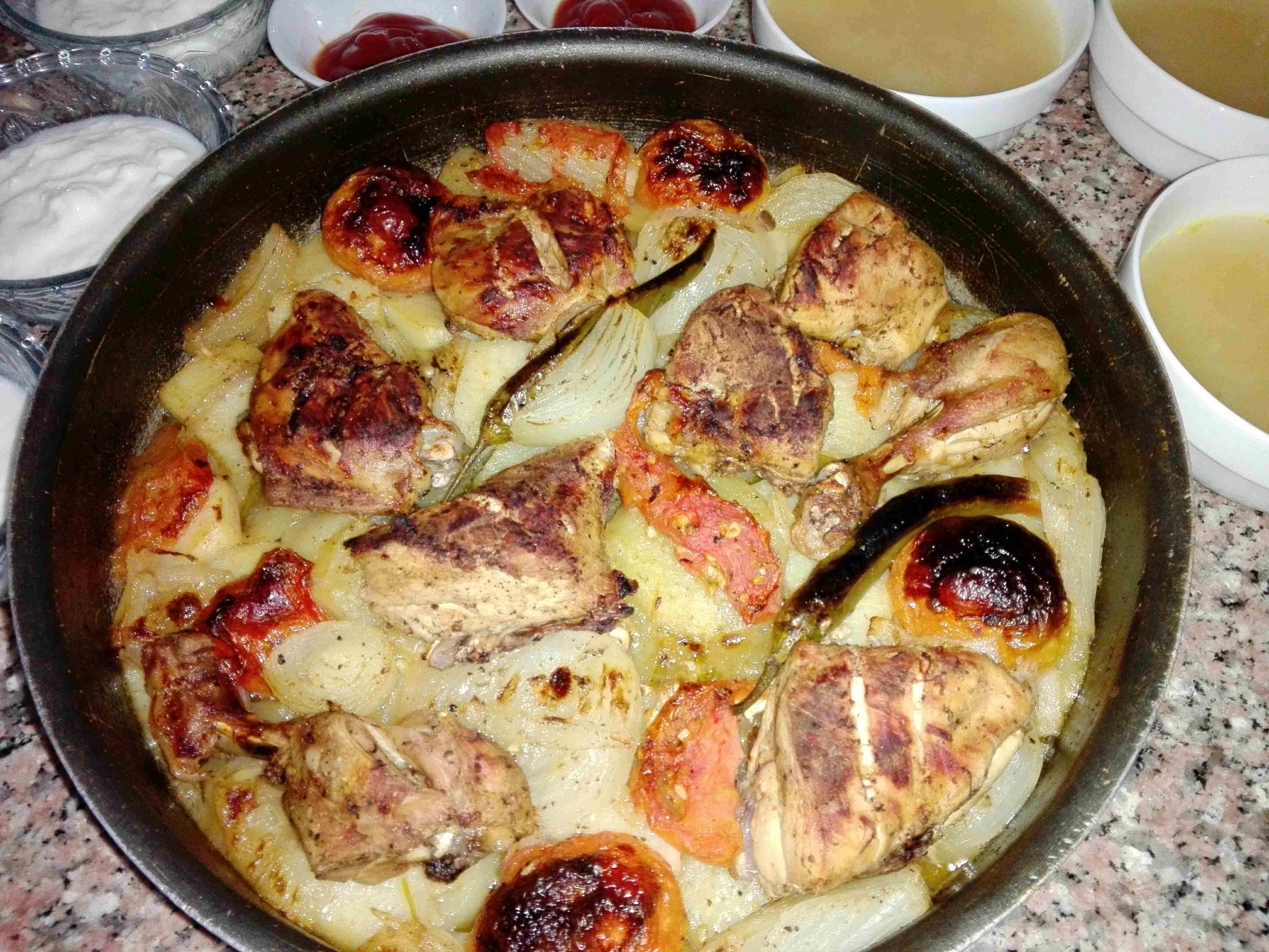 صينية دجاج مع الخضار زاكي Main Dishes Food Dishes