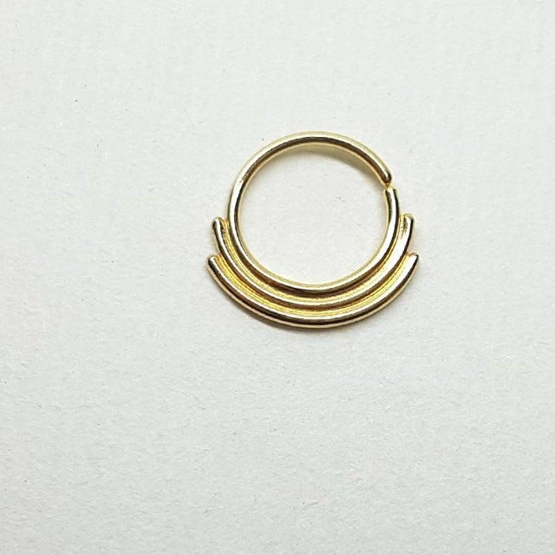 Nose Ring Gold Gold Nose Ring Gold Nose Ring Hoop Gold Hoop Etsy Gold Hoop Nose Ring Nose Rings Hoop Gold Nose Rings