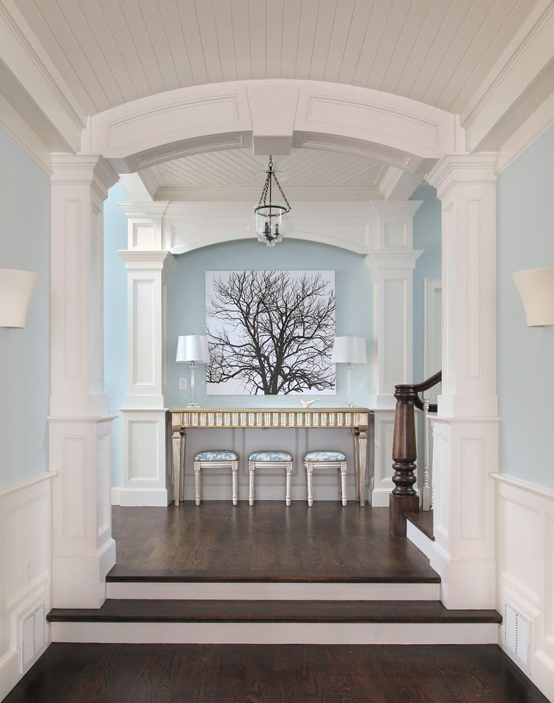 Beadboard ceiling blue and white color scheme crown - Crown exterior wood paint colours ...