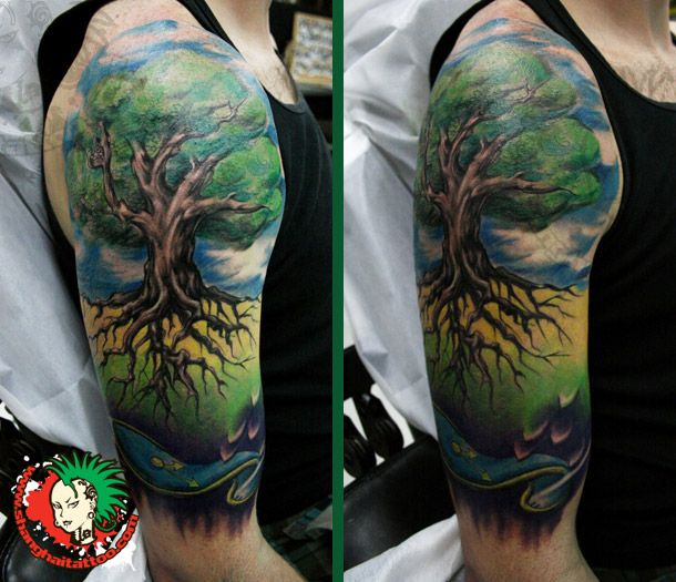 Tree Tattoo Color tree of life in color tattoo - google search tattoos ...