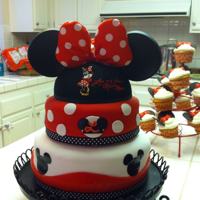 ... she can wear the dress for her 2nd birthday party and this could be her cake!  It's all coming together.