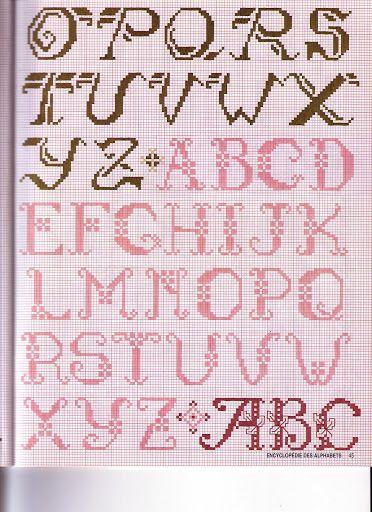 abecedarios multiples en punto de cruz - Joaquín Romero - Веб-альбомы Picasa