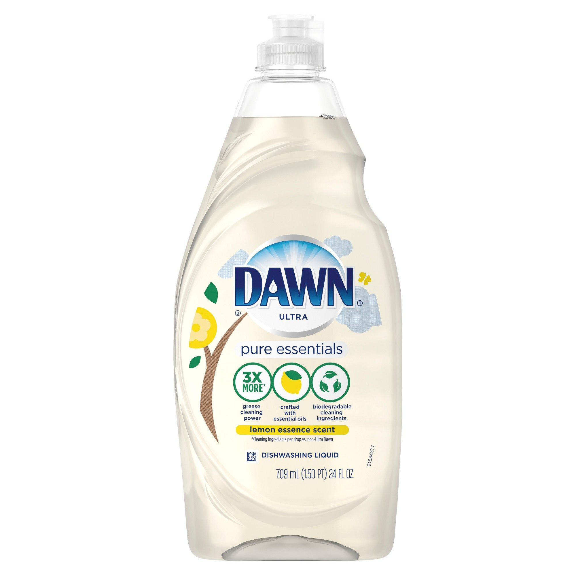 Dawn Free Clear Dishwashing Liquid Dish Soap Lemon Essence 24 Fl Oz Dishwashing Liquid Liquid Dish Soap Natural Dish Soap