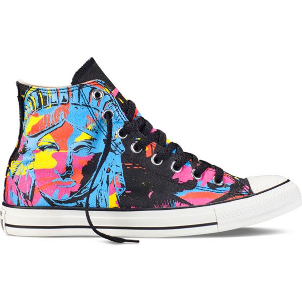 Converse Chuck Taylor All Star Andy Warhol Unisex Shoes Black/White/Marina