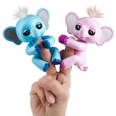 Fingerlings Baby Elephant - Gray (Gray) - Interactive Toy ...