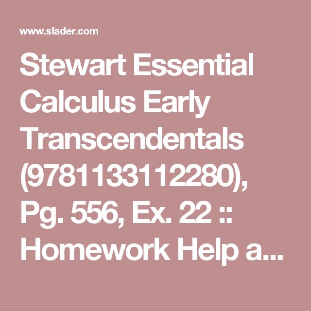 Stewart Essential Calculus Early Transcendentals (9781133112280), Pg