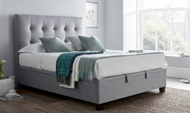 Superb Claydon Ottoman Bed Frame In Marbella Dark Grey In 2019 Ncnpc Chair Design For Home Ncnpcorg
