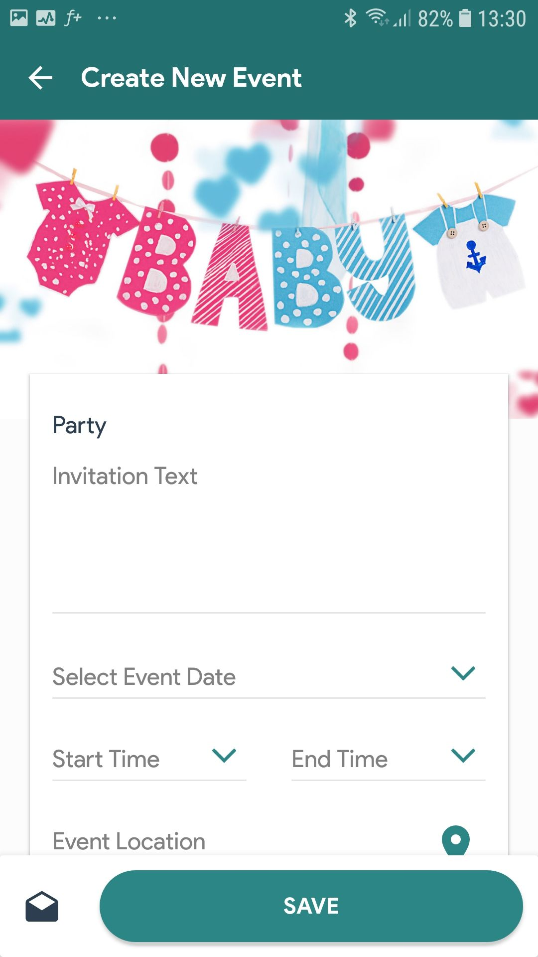 G Vine Party Invitations