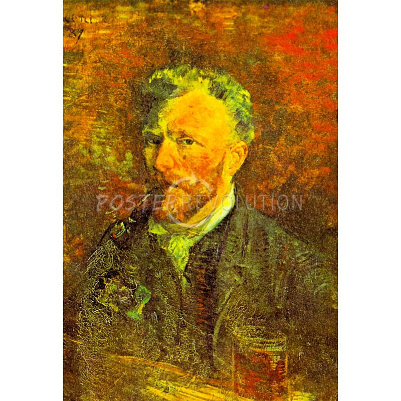 """Self Portrait With Pipe At A Table"" by Vincent Van Gogh, 13x19in Art Poster Print, $4 via PosterRevolution.Com"
