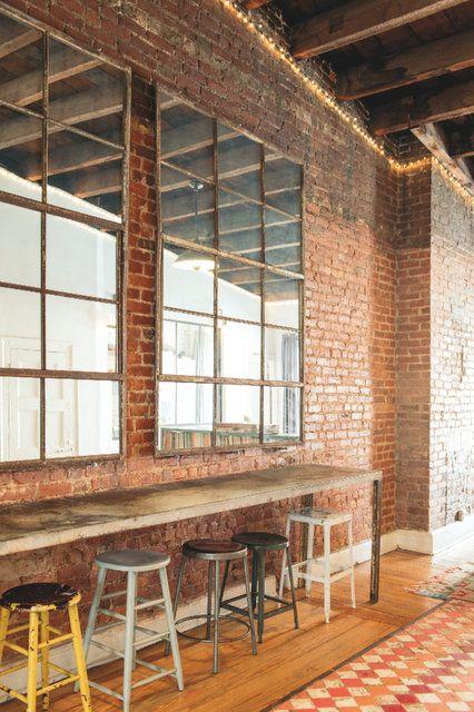 loft la d co industrielle mur de briques pinterest deco industrielle deco et loft. Black Bedroom Furniture Sets. Home Design Ideas