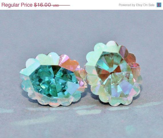 SALE RARE Vintage Swarovski Crystal AB by hangingbyathread1, $14.40