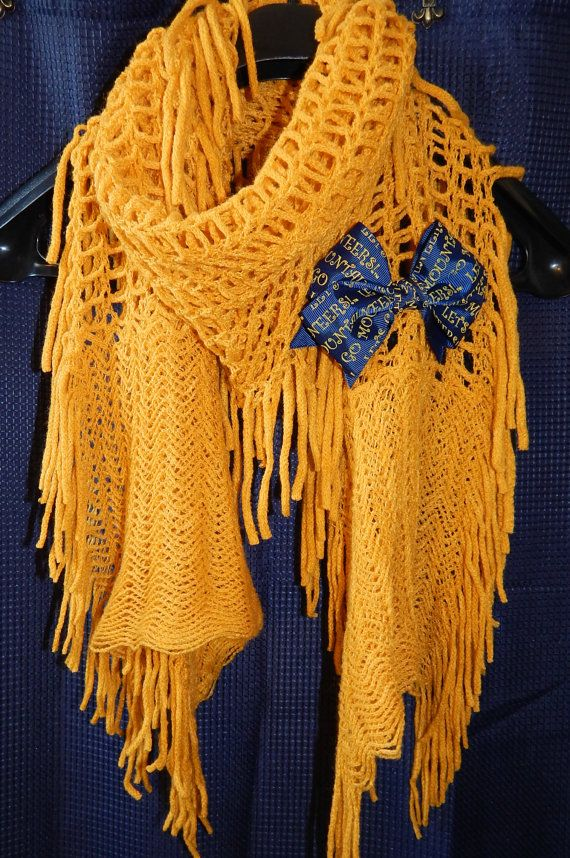 Show your WVU Spirit! This scarf is perfect for Game Day! Check out this item in my Etsy shop https://www.etsy.com/listing/212931967/wvu-mountaineer-scarf
