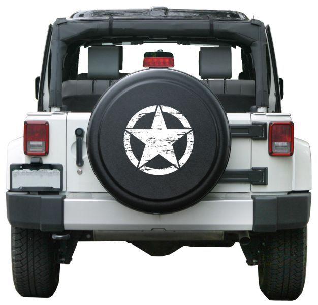 Boomerang Enterprises Distressed Star Rigid Tire Cover In Textured