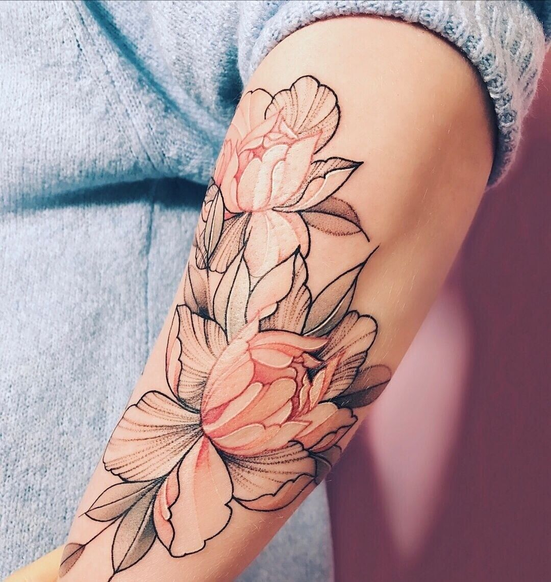 Love The Soft Color Tattoos Inspirational Tattoos Flower Tattoo Sleeve